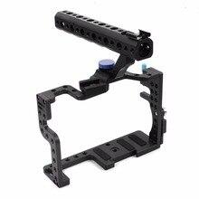 עבור Panasonic מקצועי GH3 GH4 מגן שיכון מקרה ידית אחיזה מחוספס כלוב קומבו סט עבור DSLR Rig מצלמה דיגיטלית