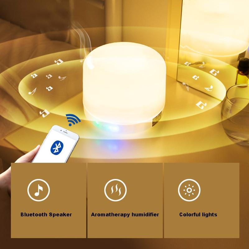 GZMJ Nachtverlichting Lamp Bluetooth Speaker Kleurrijke Essentiële Olie Geur Lamp Dimbare LED Licht Slaapkamer Nachtlampje Home Decor - 2