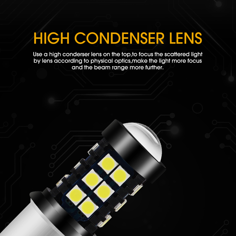 2x Car LED 1156 P21W BA15S LED Bulbs Turn Signal Brake Lights Reverse Lamp 15W 3030 LED Auto Tail Lights White Yellow Red in Signal Lamp from Automobiles Motorcycles