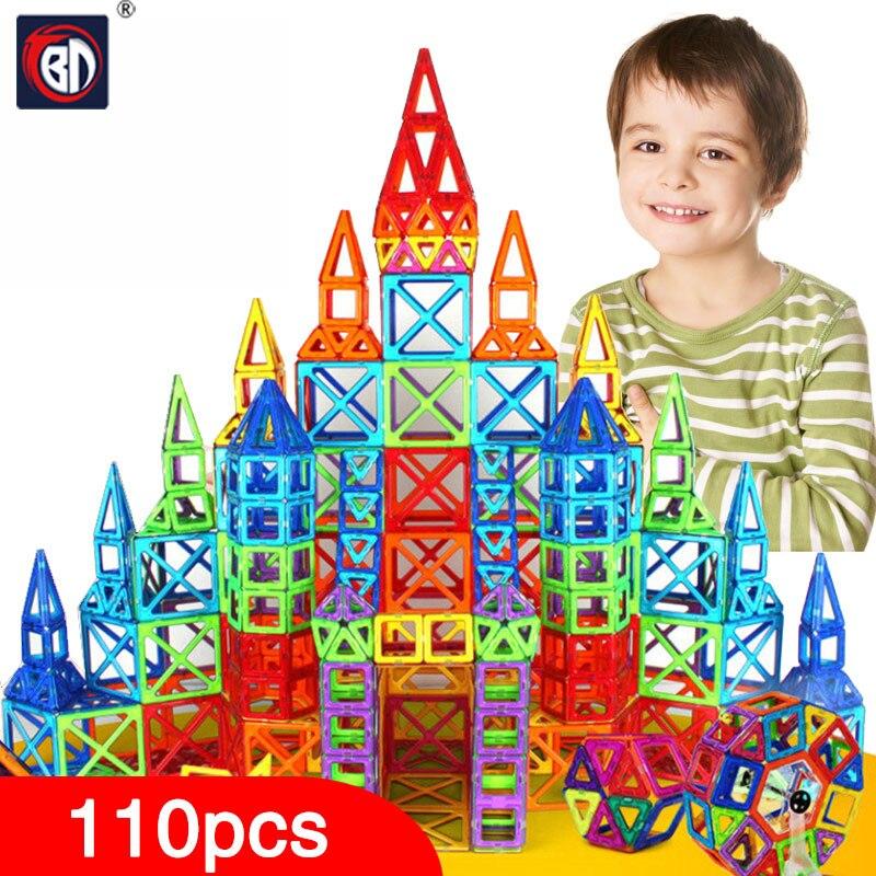 BD 110 stücke Mini Magnetic Designer Bau Set Modell & Gebäude Spielzeug Kunststoff Magnetische Blocks Pädagogisches Spielzeug Für Kinder Geschenk
