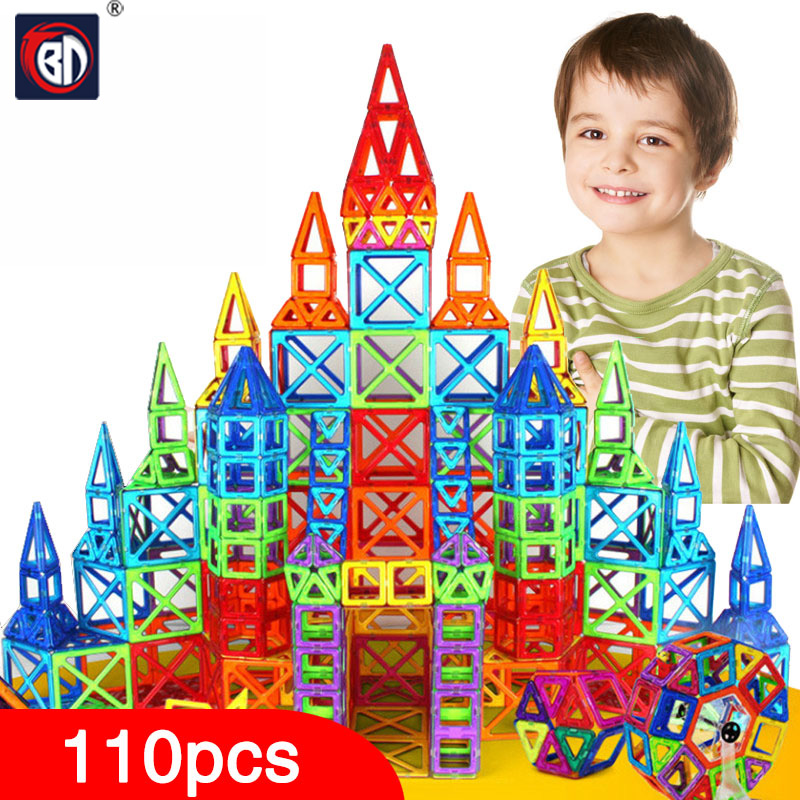 BD 110pcs Mini Magnetic Designer Construction Set Model & Building Toy Plastic Magnetic Blocks Educational Toys For Kids Gift 62pcs set magnetic building block 3d blocks diy kids toys educational model building kits magnetic bricks toy