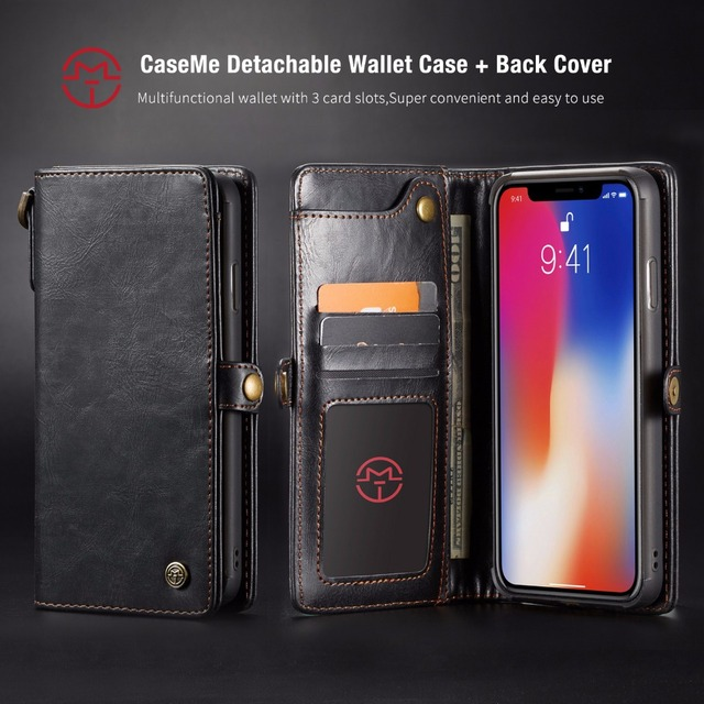 450e3fd9921f US $10.63 24% OFF Magnetic Detachable For Apple iPhone Xs Max Luxury Retro  Phone Shell Cover For iPhone XS X S Flip Leather Case Caseme iPhoneX 10-in  ...