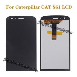 """Image 1 - 5.2 """"AAA גבוהה באיכות תצוגה עבור קטרפילר חתול S61 LCD + מגע מסך דיגיטלי ממיר מושלם תיקון מסך אביזרים"""