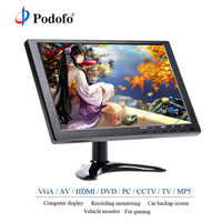 Podofo 10.1FHD Car Headrest LCD Monitor TFT LCD HD Digital Screen HDMI/VGA/AV/USB/SD For PC/TV/CCTV/DVD/MP5 Player Monitoring