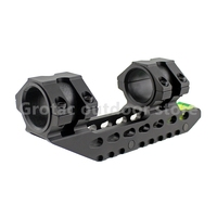 Scope Mount 25.4 mm 30mm Dual Ring Cantilever Heavy Duty Riflescope Mount with Bubble Level Fit Weaver Picatinny Rail 20mm rail