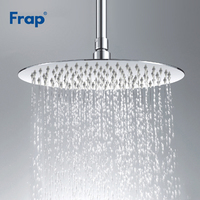 Frap Stainless Steel Ultra thin Waterfall Shower Overheads Rainfall Shower Head Rain Shower Square Round Diameter 300mm G29