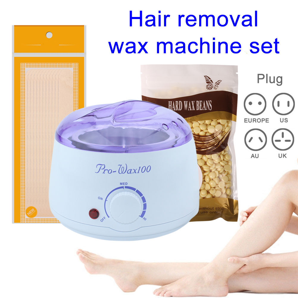 Hair removal wax machine Set Depilatory Hot Hard Wax Beans Pellet Body Hair Removal Waxing Heater Body Hair Removal Ship From RU