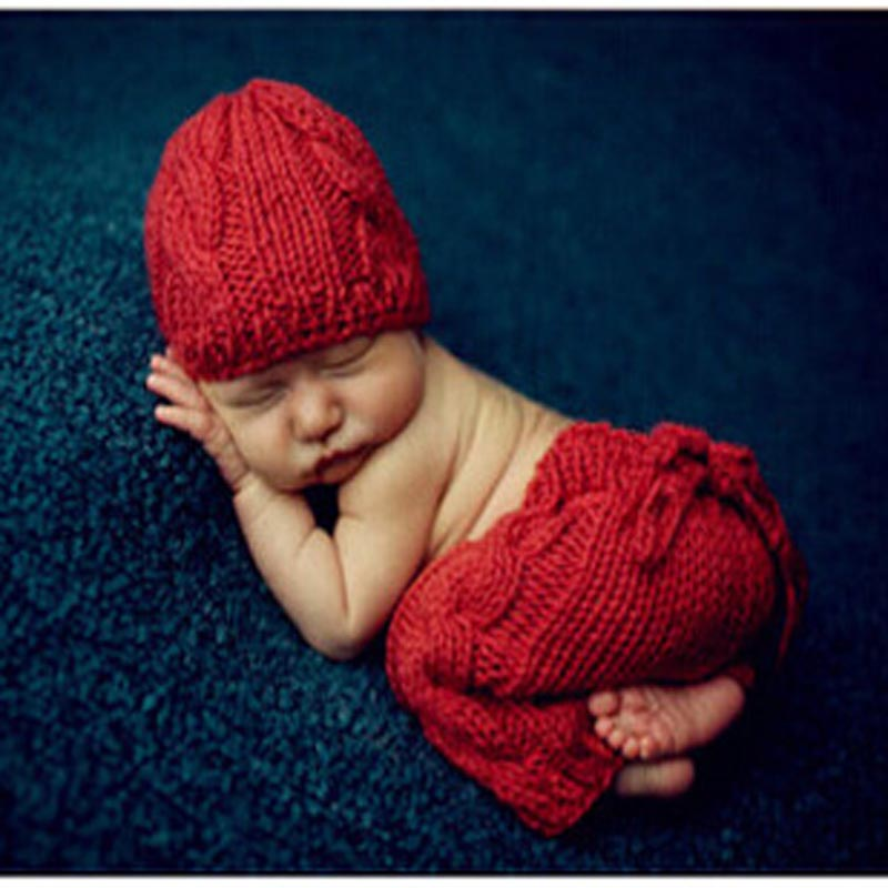 Knitting For Newborn Photography : Retail solid red crochet knitted newborn photography props