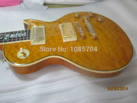 Free shipping new gib lp custom electric guitar/with maple flame top guitarra/ebony oem brand guitar in china