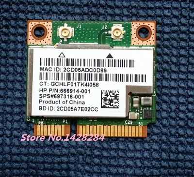 New For Broadcom BCM943228HMB BCM43228HMB 2.4G/5Ghz half Mini PCI-E WIFI bluetooth BT 4.0 Wireless card 300Mbps SPS 697316-001