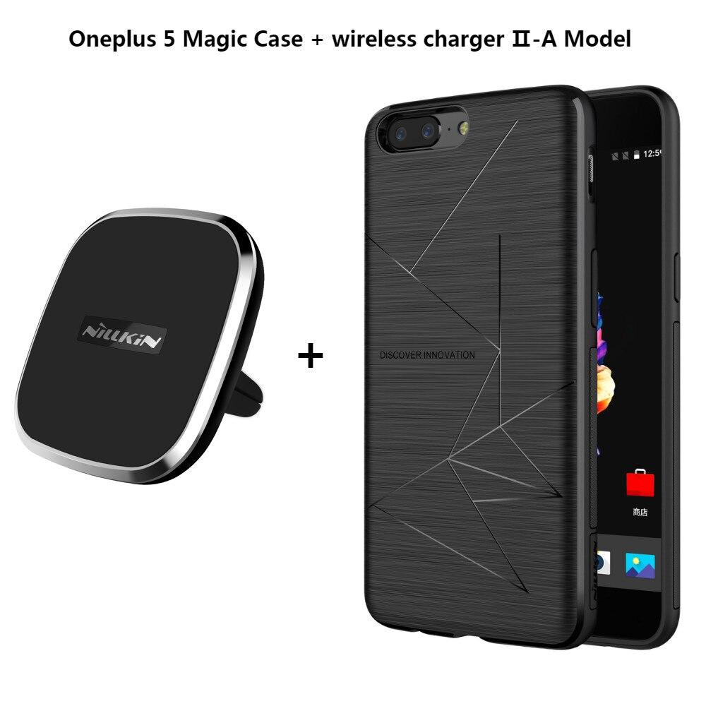 NILLKIN voiture chargeur magnétique sans fil II + boîtier magique sans fil boîtier chargeur de récepteur couverture arrière pour Oneplus 5 A5000 Xiaomi Mi6