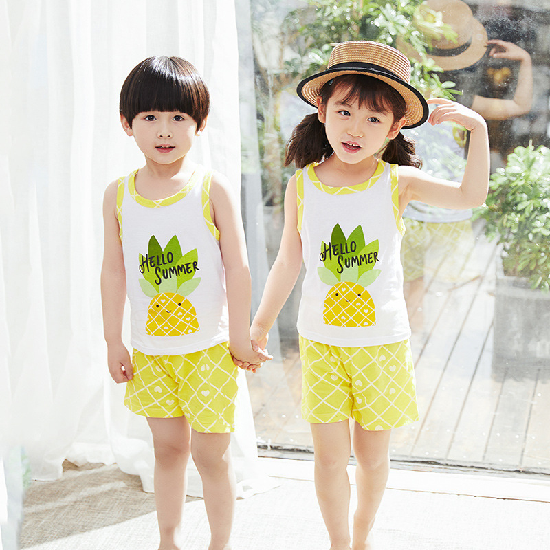 Shorts Casual Cotton Clothes Set 2PCS Baby Boy Boys Summer Outfits T-Shirt Tops