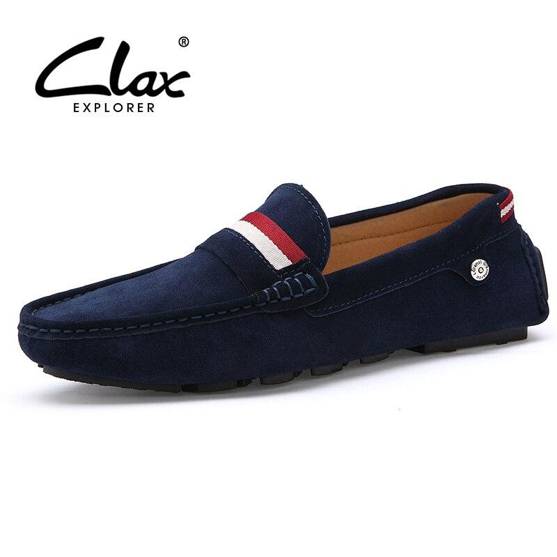 Clax Мокасины мужские брендовые сезон: весна–лето замши Лоферы для женщин для Для мужчин Винтаж ручной работы Для мужчин; обувь для вождения ...