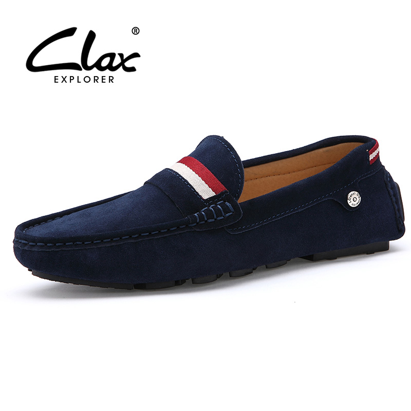 Clax Moccasin Male Brand Spring Summer Suede leather Loafers for Men Vintage Handmade Men's Driving Shoe Casual Comfortable clax men shoes luxury brand loafers genuine leather male driving shoes slip on black dress shoe moccasin designer classical