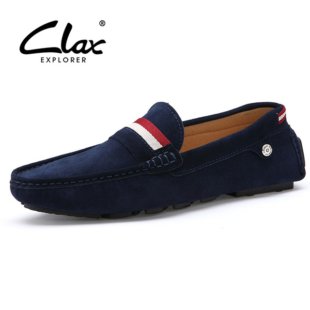 Clax Moccasin Male Brand Spring Summer Suede leather Loafers for Men Vintage Handmade Men's Driving Shoe Casual Comfortable