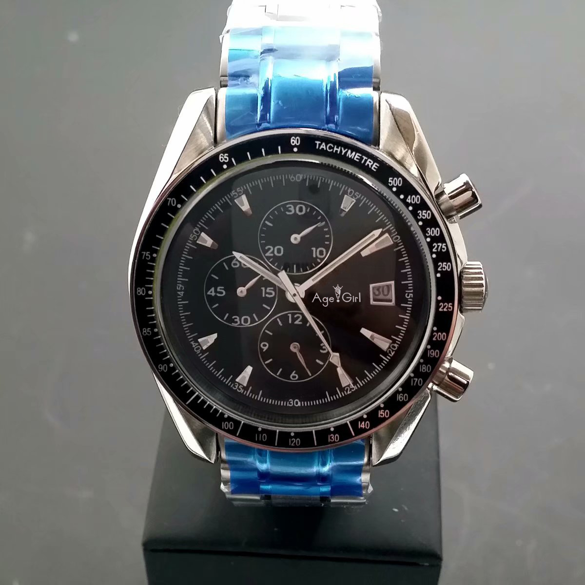 Nouveaux hommes de luxe montres mécaniques automatiques course de vitesse lumineux en céramique saphir noir Triple calendrier chronomètre AAA +