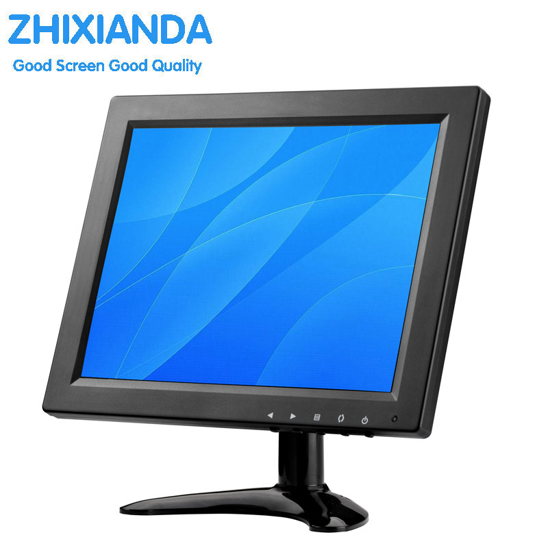9.7 Inch TFT LCD Touch Monitor with AV HDMI BNC VGA Input 1024x768 Portable Mini HD Color Screen Display with Built-in Speaker