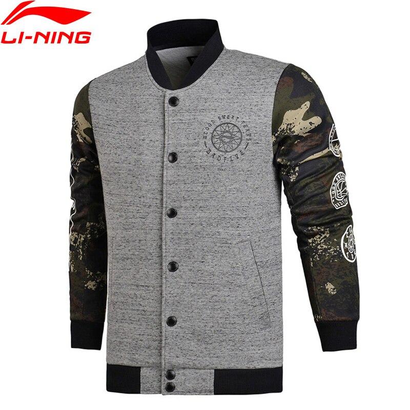 Li Ning Men BAD FIVE Basketball Sweater WARM AT Regular Fit 66 Polyester 34 Cotton LiNing