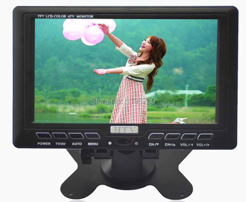 7 Inch HD LCD TV Built In Stereo Speaker Monitor TVSmall HdLCD With USB FM
