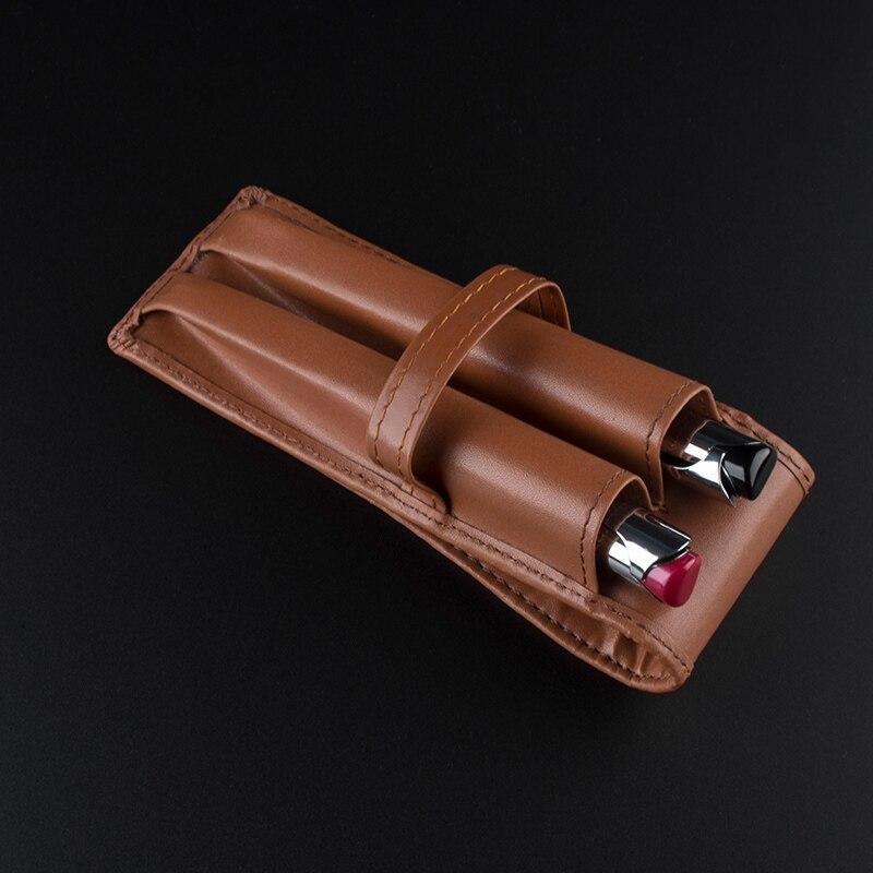 730f7a747330f عالية الجودة اللوازم المكتبية الجلود بو القلم حقيبة ل 2 ميجابايت أقلام جديد  الحقيبة مقلمة القدرة الفاخرة هدية أقلام حقيبة أقلام رصاص