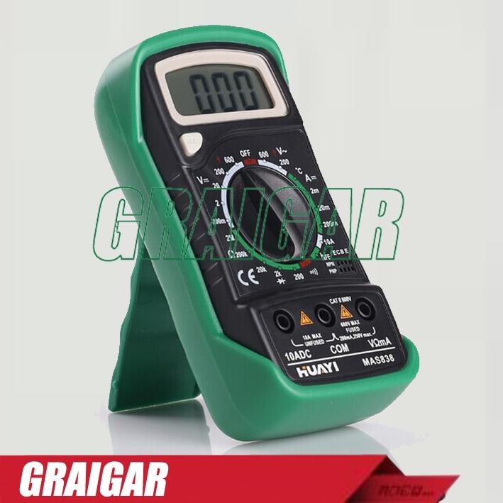 ФОТО Professional Digital Multimeter MAS838 Mini Multimeter Multifunction Multimeter Detector LCD Display