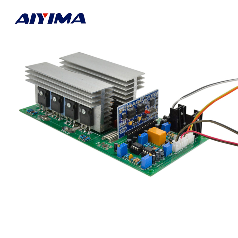 Aiyima Pure Sine Wave High Power Frequency Inverter Transformer DC 12V 24V 36V 48V 60V 1000/2000/2800/3600/4000W Finished Board new 14 50 80a 3 jaw cnc 4th axis cnc dividing head rotation axis a axis kit gapless harmonic gearbox tailstock for cnc machi