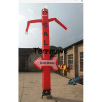 advertise car wash inflatable sky dancer,one leg air dance puppet tube man with arrow inflatable dancing tube man