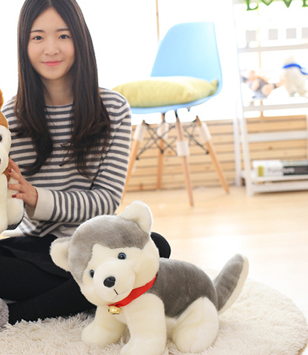 ФОТО big gray plush dog toy creative stuffed Pomeranian dog doll gift about 50cm