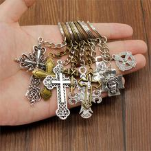 Charm Jesus Cross Alloy Pendant Keychains Christianity Accessory Keys Keychain Car Key Chain Ring Holder Wen Jewelry