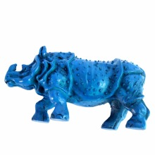 Blue Feng Shui Rhinoceros For Protection Rhino Home Decoration Gift