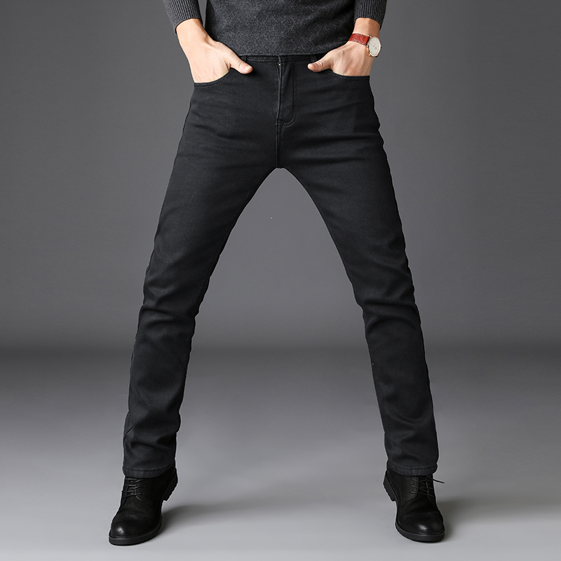 2019 Black Grey Brands Jeans Trousers Men Clothes Black Jeans Fashion Casual Classic Style Elastic Force Skinny Trousers Male