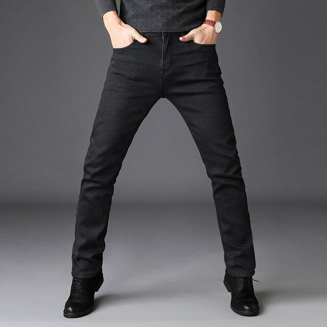 2019 Zwart Grijs Merken Jeans Broek Mannen Kleding Zwarte Jeans Fashion Casual Klassieke Stijl Elastische Kracht Skinny Broek Mannelijke