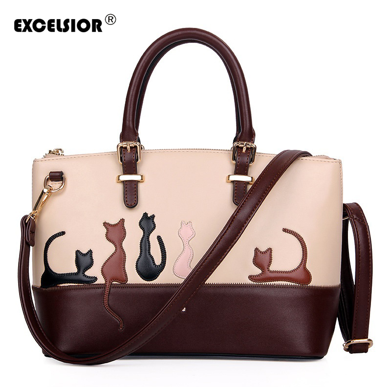 Dual Use Women Detachable Belt Handbags Cute Cat Rabbit PU Leather Girls Shoulder Bag Lady Messenger Crossbody Casual Tote