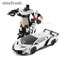 Abbyfrank RC Transformation Cars Robots Remote Control Sound Light Dance Transform Toy 8 Electric Car Models