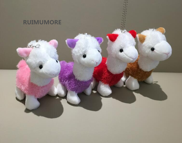 Sprzedaż hurtowa 20 sztuk/partia 13 cm Rainbow Alpaca Australia zwierząt pluszowe nadziewane zabawki, dla dzieci brelok wisiorek prezent pluszowa zabawka lalka w Pluszowe zwierzęta od Zabawki i hobby na AliExpress - 11.11_Double 11Singles' Day 1