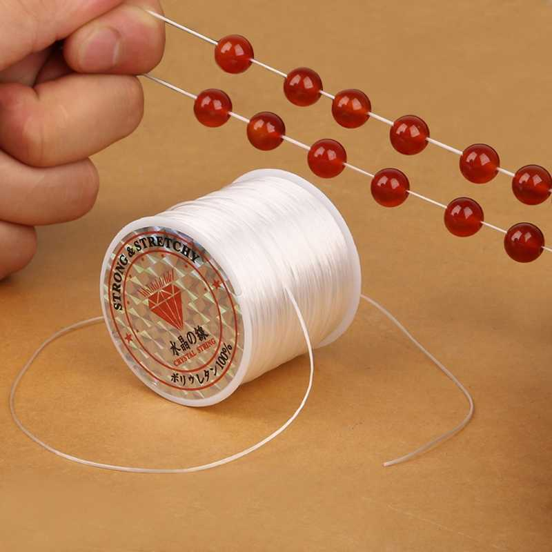 Упругие ясно Бисер нить стрейч полиэстер шнура для изготовления ювелирных изделий Бисер линия сильный Ювелирные изделия из кристаллов аксессуары