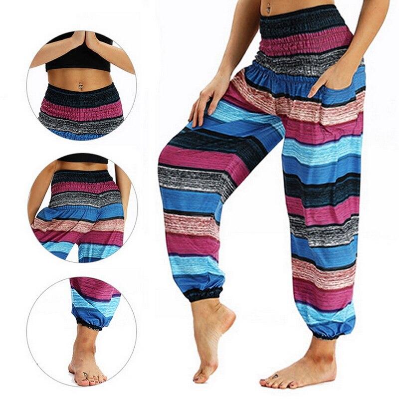 Vertvie Yoga Sports 2018 Women's Woodgrain Road Printed Pants Woman High Waist Yoga Leggings Jogger Yoga Pants Female