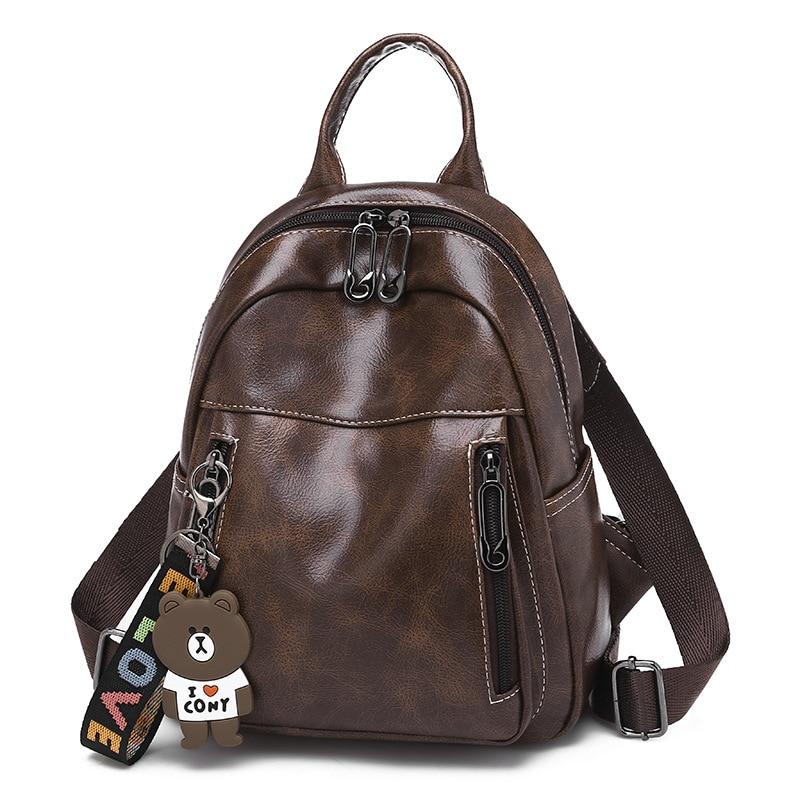 381116349a7e Рюкзак Для женщин ретро мягкие кожаные рюкзаки сумка леди мочила Feminina  сумки для Для женщин plecak