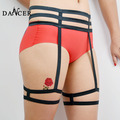2014New Leg garter  fashionable sexy  black  spandex  harness for female