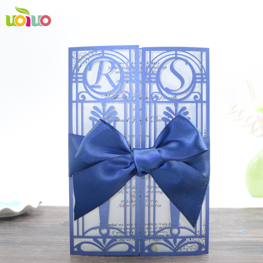 China Wholesale Party Decoration Laser Cut Wedding Invitations