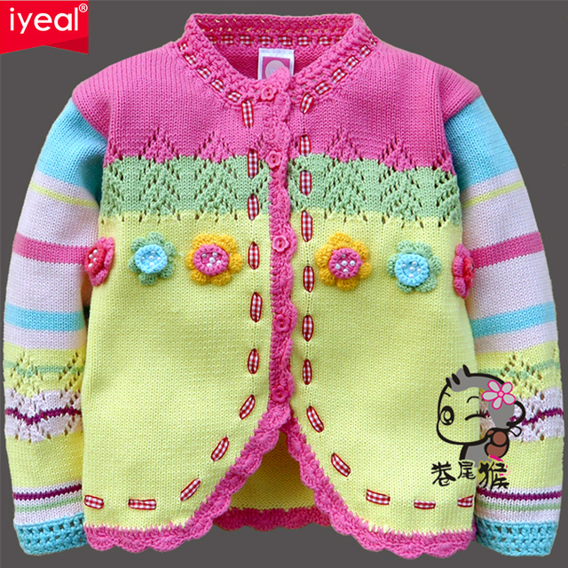 a3bd1dcf5 IYEAL New Arrival Children Sweater Girls Winter Cotton Warm Baby ...