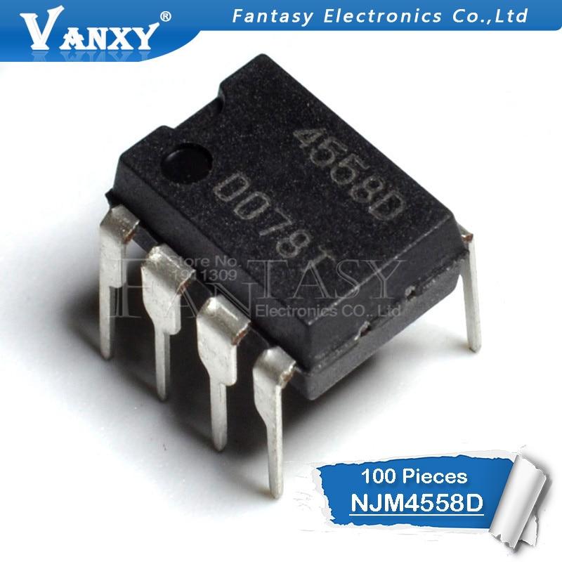 NJM4558MD NJM4558D JRC4558D 4558D 100PCS DUAL OP AMP IC JRC SOP-8N DMP-8