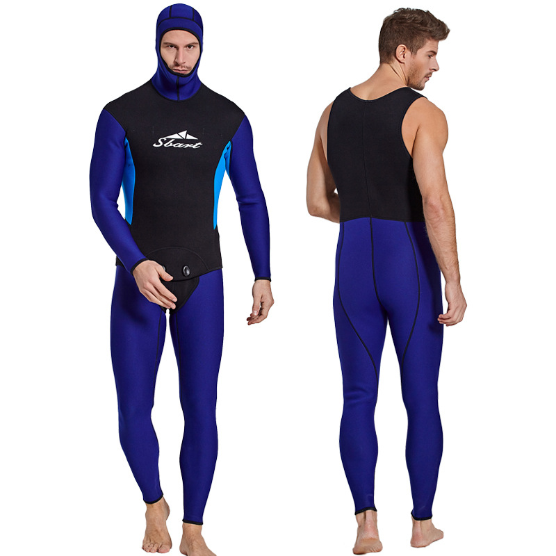 C266 Thick winter swimming swimsuit warm jellyfish suit two Pieces sets of 3MM wetsuit surfing clothing Snorkeling suit menC266 Thick winter swimming swimsuit warm jellyfish suit two Pieces sets of 3MM wetsuit surfing clothing Snorkeling suit men