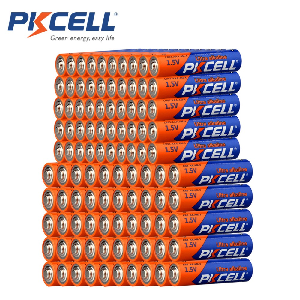 50Pcs 1 5V Alkaline AA LR6 Battery 50Pcs LR03 AAA Batteries Dry Batteries 1 5 Volts