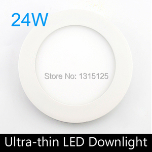 20PC / LOT Ulthra thin 24W LED Panel Lights,Round LED Recessed Ceiling Light,LED panel lamp for home illumination+Free Shipping