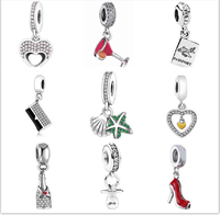 Authentic 925 Sterling Silver Jewelry Christmas Bell Pendant Beads Jewelry Making Fits Original Pandora Charm Bracelet