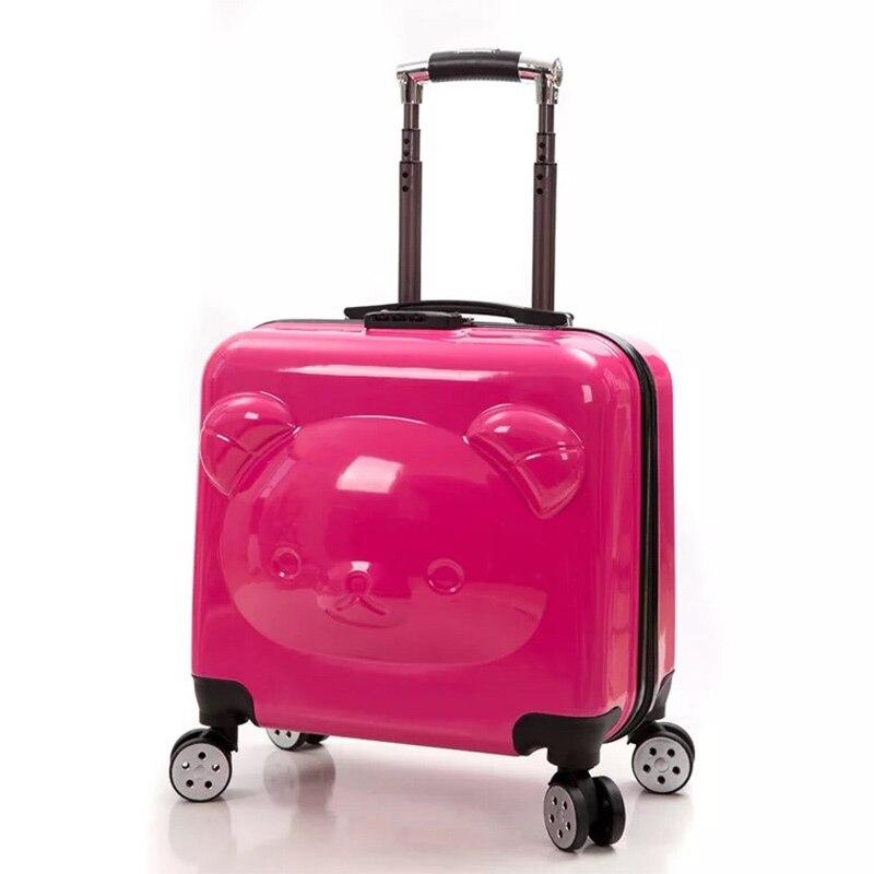 Anime 3d Roll Gepäck Für Jungen Und Mädchen Kinder Bär Trolley Koffer 18/20 Zoll Männer Frauen Cartoon Reise Box Kinder Fall