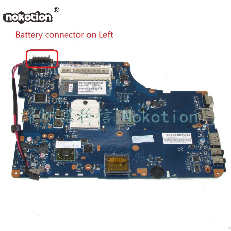 NOKOTION K000093250 NSWAE LA-5332P Laptop Motherboard For Toshiba satellite L555 L555D L550D Main Board WORKS цена
