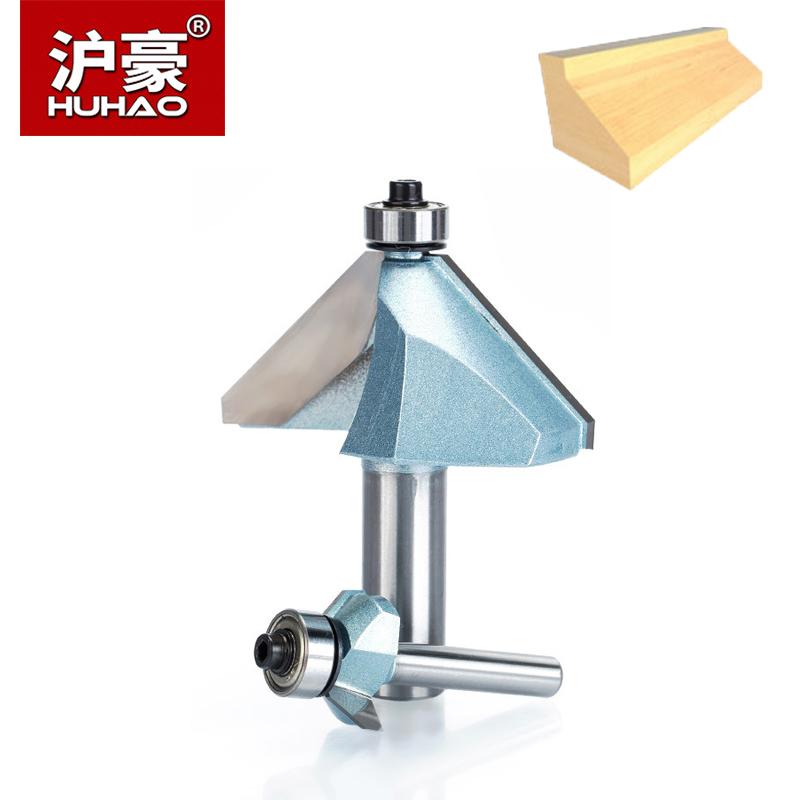 HUHAO 1pc 1/21/4 Shank Chamfer Cutter Industrial Grade Router Bits For Wood Horse Nose Bit 45 Deg CNC Woodworking Tool Endmil 1pc cleaning bottom router bit cutter cnc woodworking clean bits 1 2 shank dia