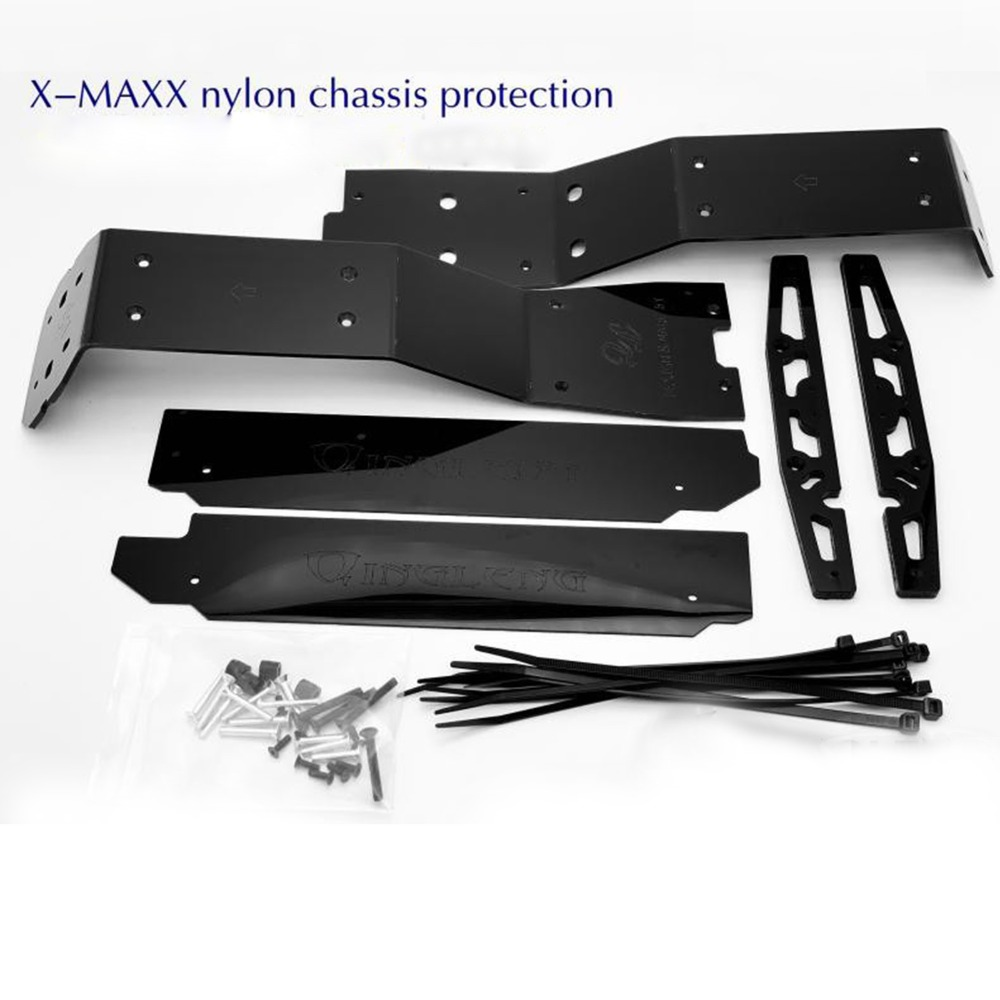 Wear-resisting Skid Nylon Chassis Protection for TRAXXAS X-MAXX RC Car PartsWear-resisting Skid Nylon Chassis Protection for TRAXXAS X-MAXX RC Car Parts